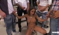 Malena / With two cocks in the ass Malena sells the house and enjoys like a real whore