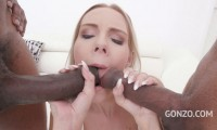 Florane Russell BBC anal threesome with DP DAP