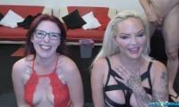 [SplatBukkake] Bukkake fun for Sexy Cleo and Louise Lee