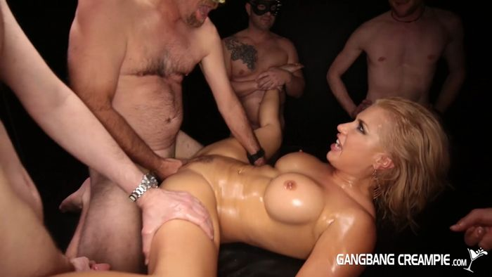 Multiple creampie gangbang party judith 13